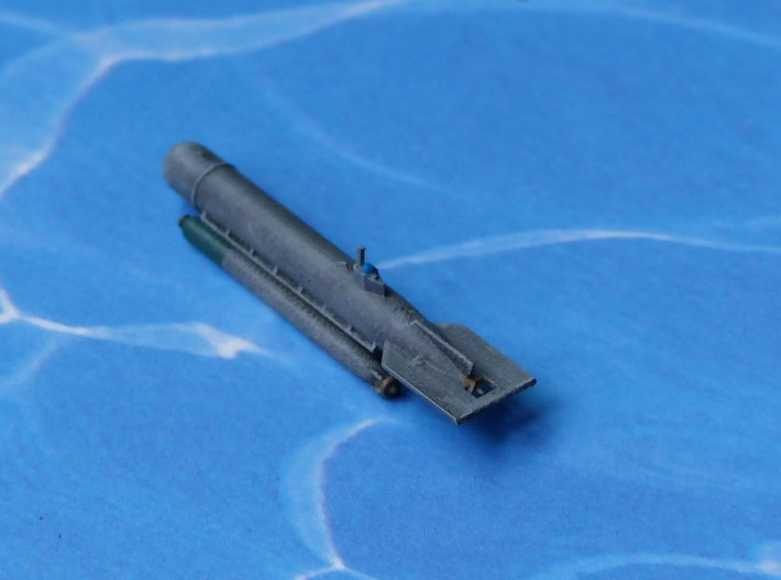 """Submarine Type """"Molch"""" 1/285 6mm 3d printed Add a caption..."""