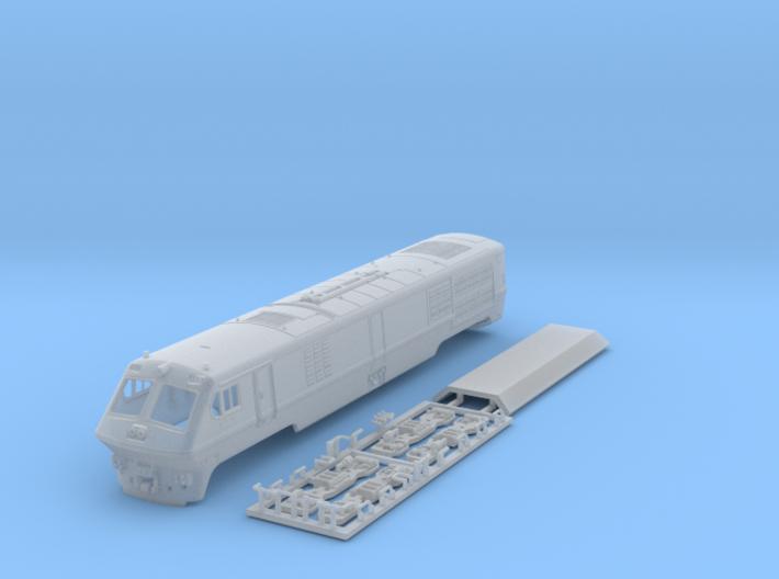 VIA / Amtrak LRC Loco (motorized end) N Scale 3d printed