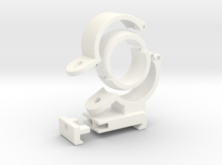 Spherical Bearing Riflescope Mount with 30mm Ring 3d printed