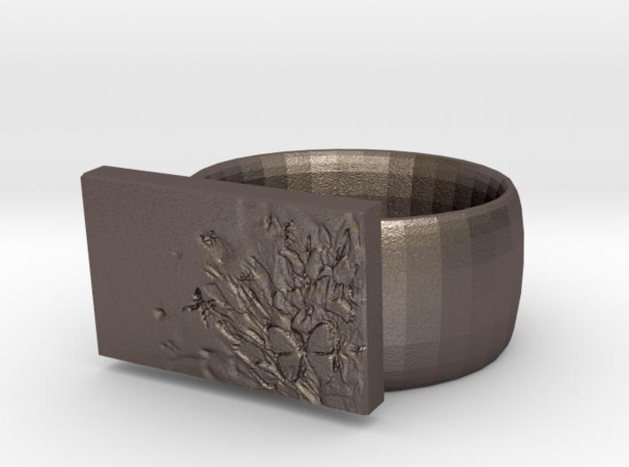 Flower Ring Version 7 3d printed