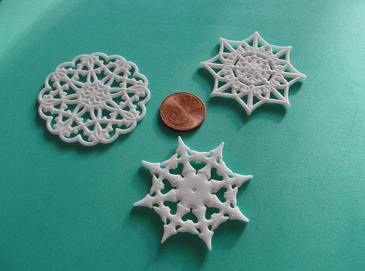 KH snowflakes 3d printed