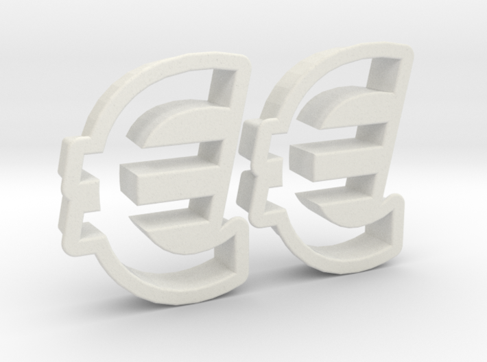 Cookie cutter (2 p.) - Euro Symbol 3d printed