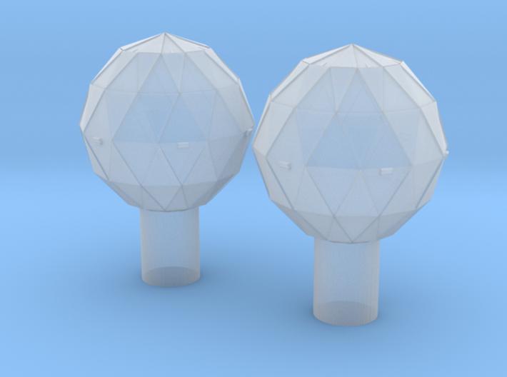 1/10000 Star Destroyer Deflector Domes 3d printed