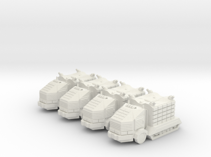 Troop Trucks 6mm 3d printed