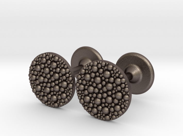 Granulated Cufflinks 3d printed