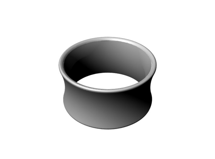 Cloud Gate Ring 3d printed