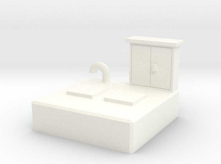 N scale Sewer Pumping Station 3d printed