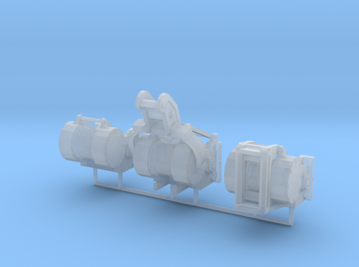 1/50th Logging winch set of 3 for bulldozers 3d printed