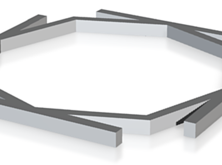 3DS Circle Pad Octagonal Alignment Insert 3d printed