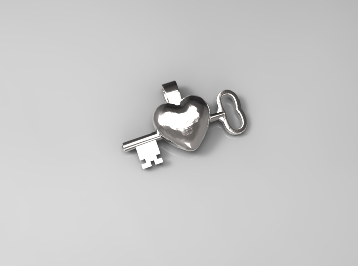 The key to a heart, 003 3d printed