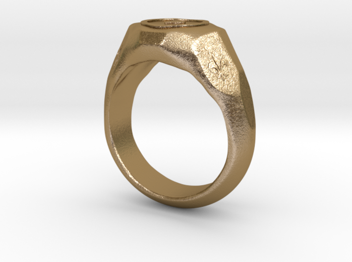 """US 7 size """"Play"""" ring, second edition. 3d printed"""