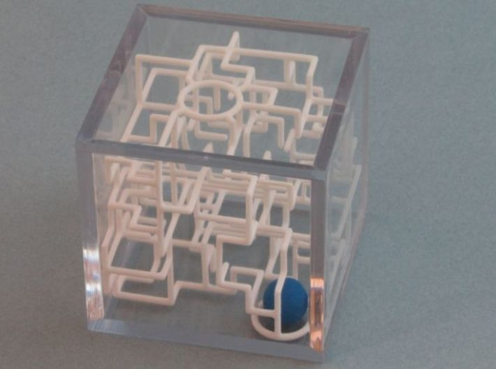Bare Bones 6-Pack Pirate Maze Puzzle 3d printed Ball at the Entrance of the Maze
