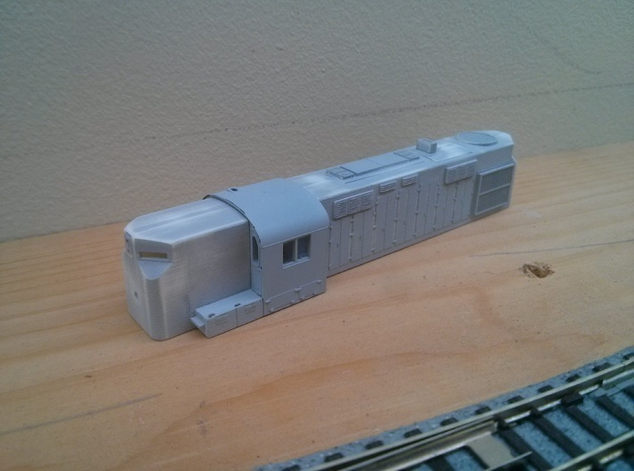 RS36 Conversion - N&W Version (N) 3d printed Shell in a coat of gray primer, image by Andrew Kyle