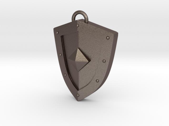 Simplistic Shield Pendant 3d printed