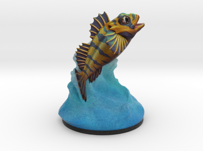 Flipping Fish Splash! 3d printed