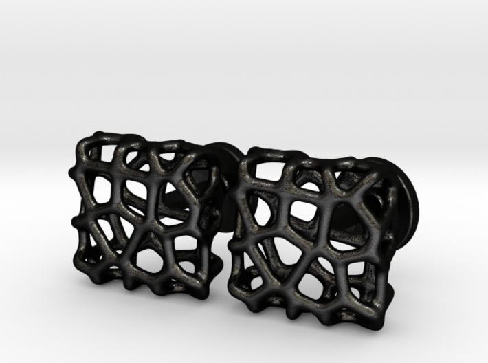 Organic Square Cufflinks 3d printed