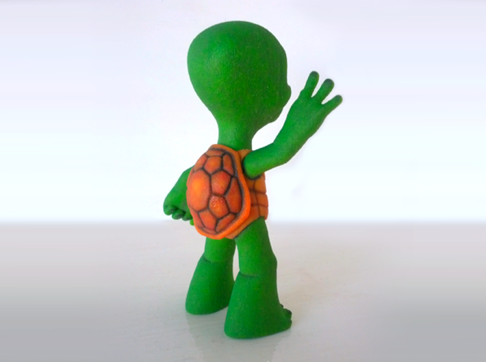 Friendly 3D Printed Turtle Figurine in Colour 3d printed 3D Printed Turtle in Full Colour Sandstone
