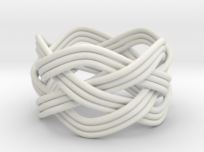 Turk's Head Knot Ring 4 Part X 5 Bight - Size 7.5 3d printed