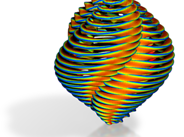 Brightly Colored Spiral Christmas Ornament 3d printed