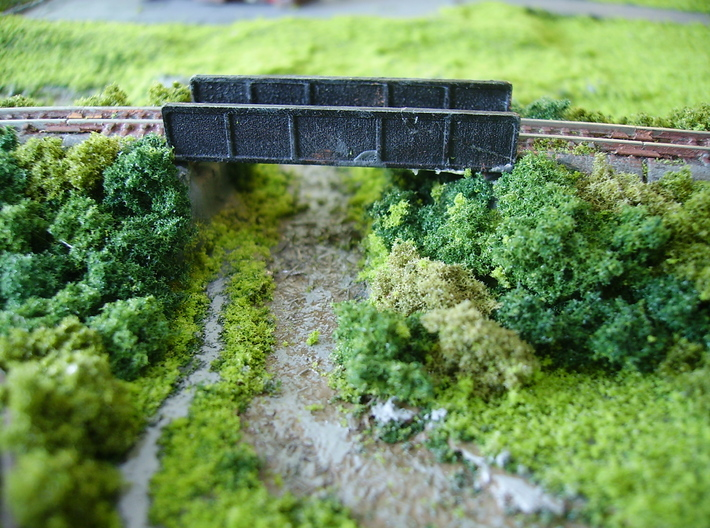 Girder Bridge Deck (without supports) 3d printed