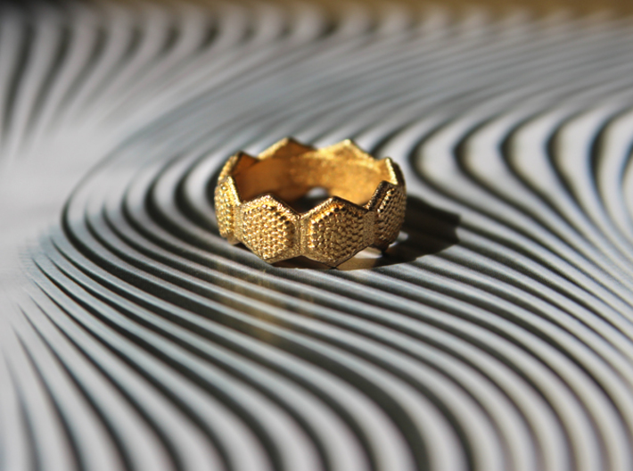 """""""Seeds of life"""" ring 3d printed"""