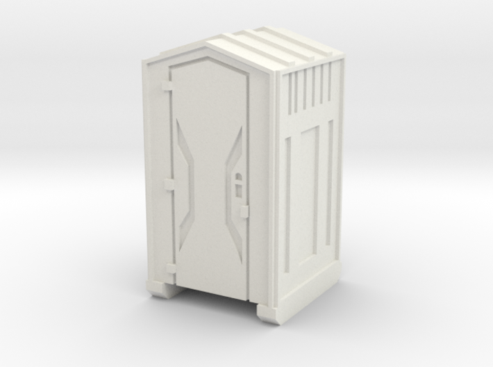 HO Scale Portable Toilet 3d printed