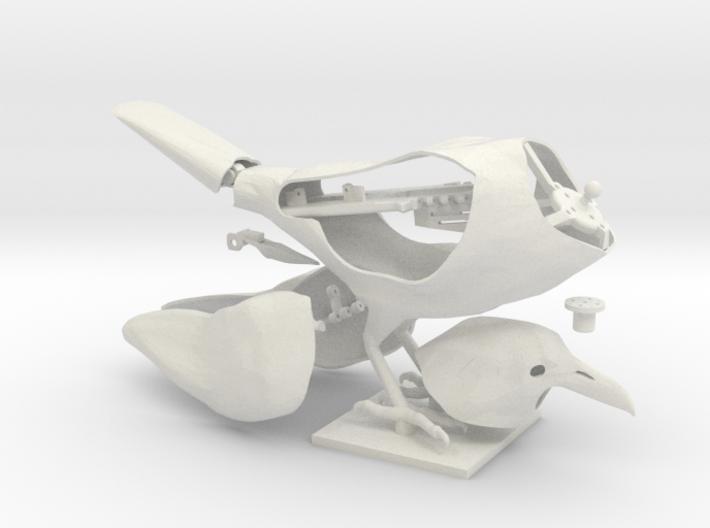 Animatronic Crow (Low Pose) 3d printed