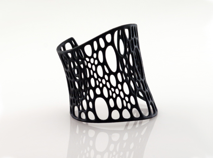 Subdivision Cuff 3d printed black strong & flexible