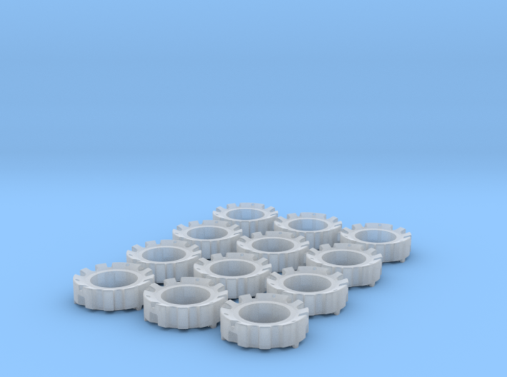 1/64 Wheel Weights Outer (12 Pieces) 3d printed