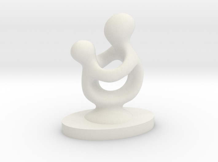 Mother and Child 3d printed
