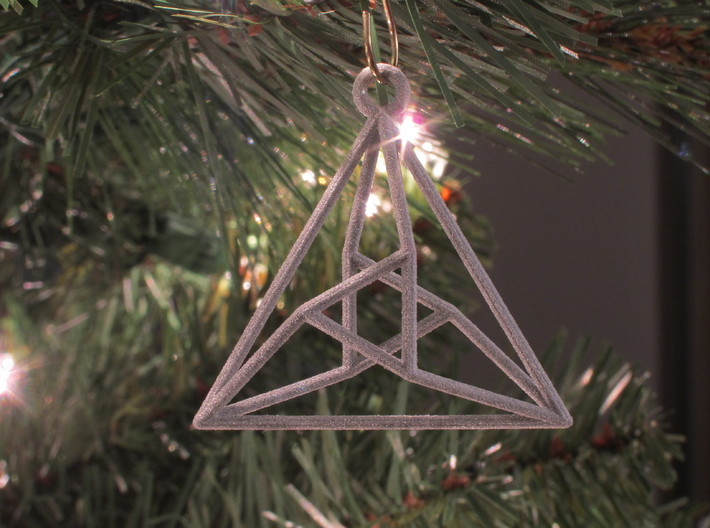 Triangle Christmas Ornament 3d printed