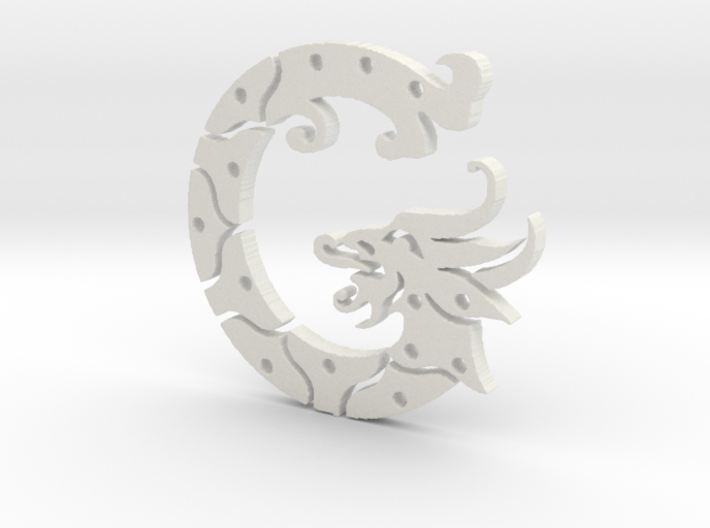 George the Dragon 3d printed