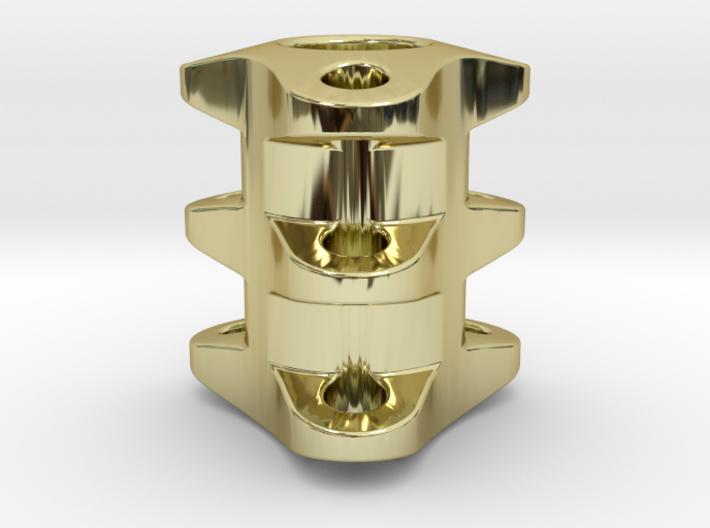 Triple Tritium Bead 2 (2x12mm Vials) 3d printed