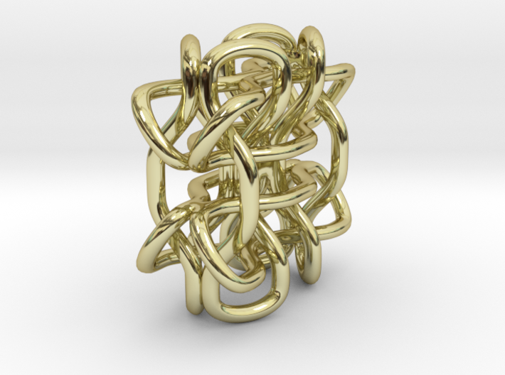 Wings3D Knot 3d printed