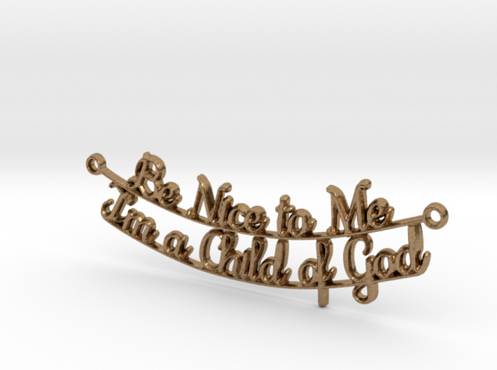 Be Nice to Me - Pendant 3d printed