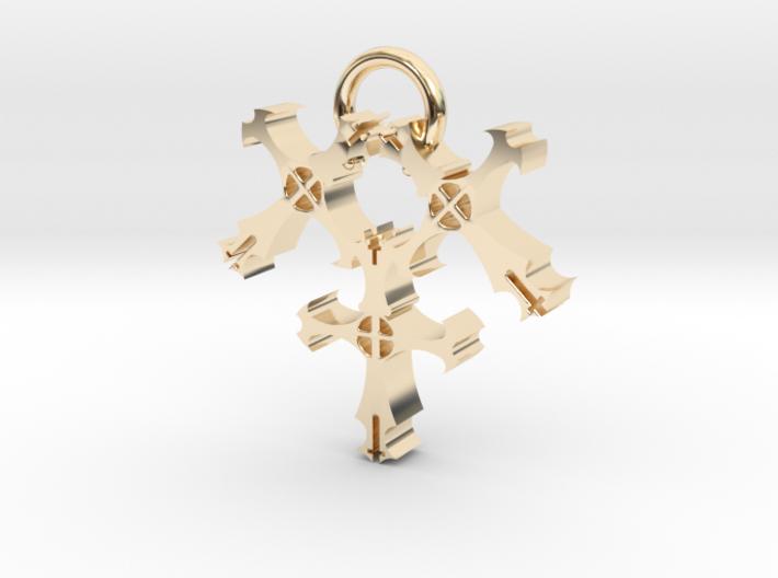 Triple Cross 3d printed