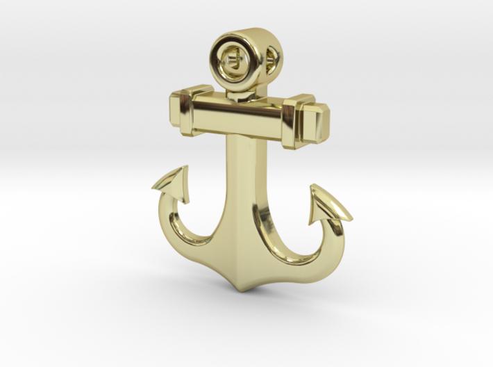 Anchor Pendant (CustomMaker) 3d printed