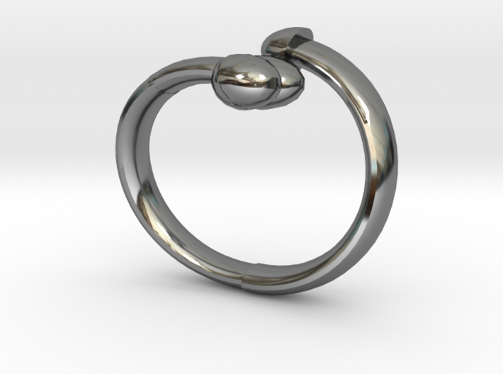 The D Ring - Sz.8 3d printed