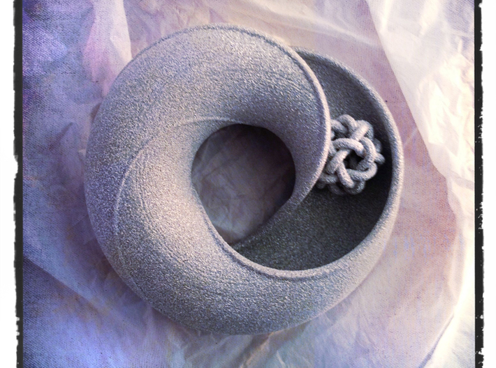 Twisted Sister 3d printed shown in alumide