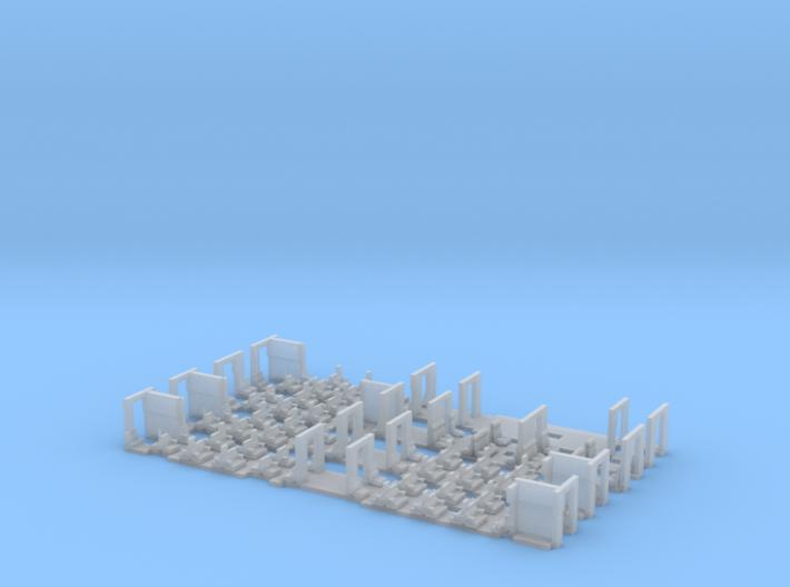 Umbauwagen 4yg - 2x B + 1x AB + 1x BD 3d printed