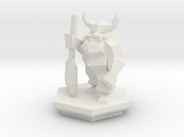 Low Poly Dwarf (Table-Top Alliance Base Unit) 3d printed