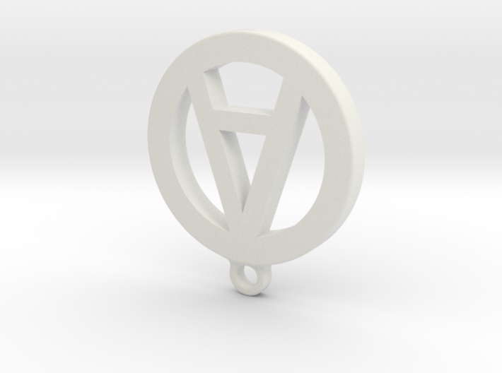 "Necklace Charm - Letter ""A"" 3d printed"