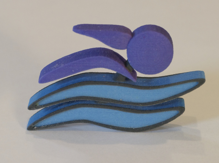 Athletes - Swimmer Woman 3d printed