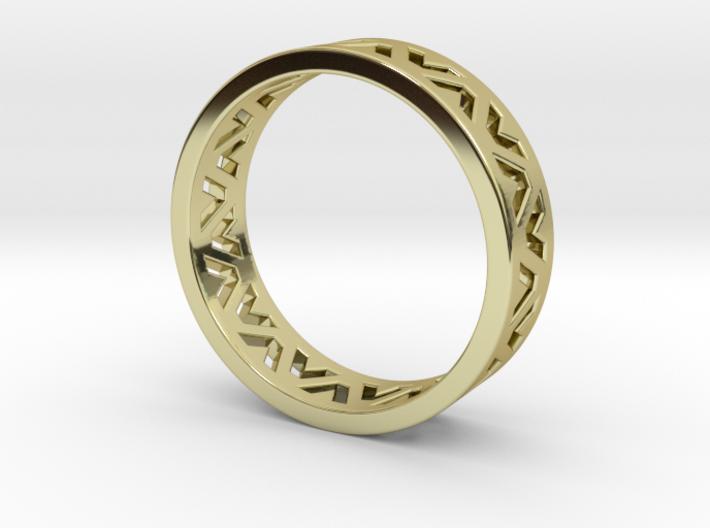 24 Caret Gold Ring (63mm) 3d printed