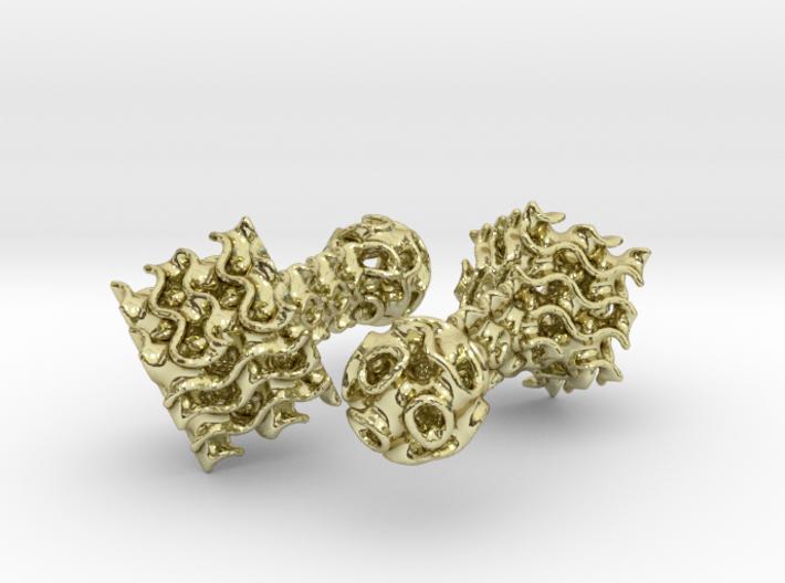 Gyroid Cufflinks 3d printed