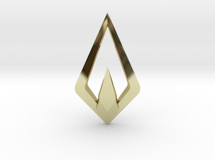 HIDDEN HEART Nimbus, Pendant. Sharp Chic 3d printed