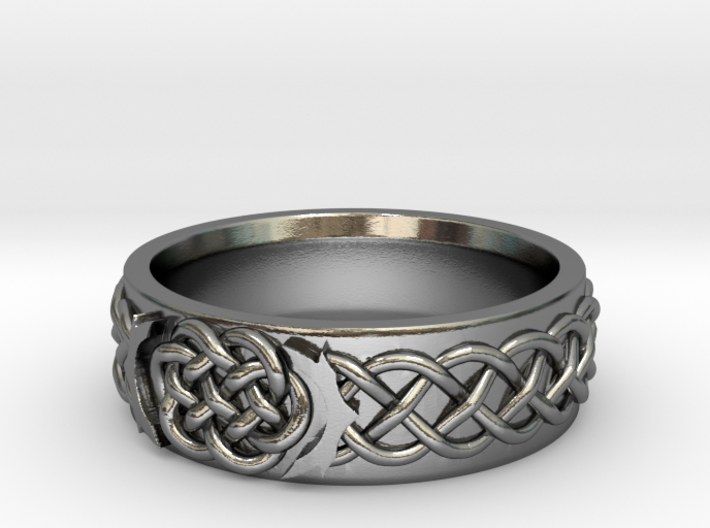 Celtic Wedding Knot Ring 3d printed