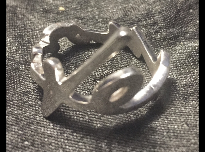 John Lennon's signature ring 3d printed