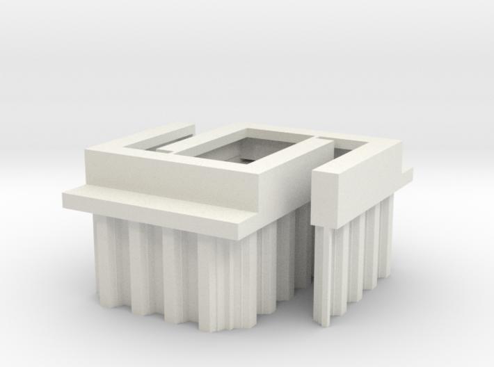 N Scale 2x Bridge Abutment Sheet Piling (29mm) 3d printed
