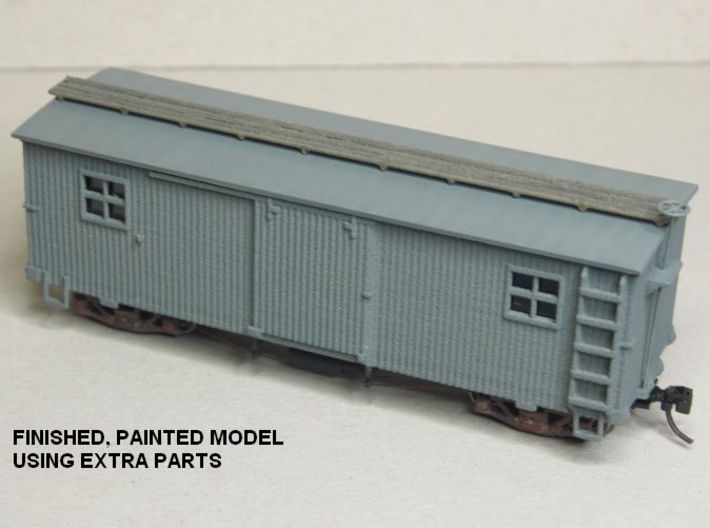 HOn30 25 foot MOW Boxcar type A 3d printed
